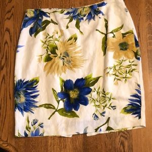 Floral skirt- fully lined